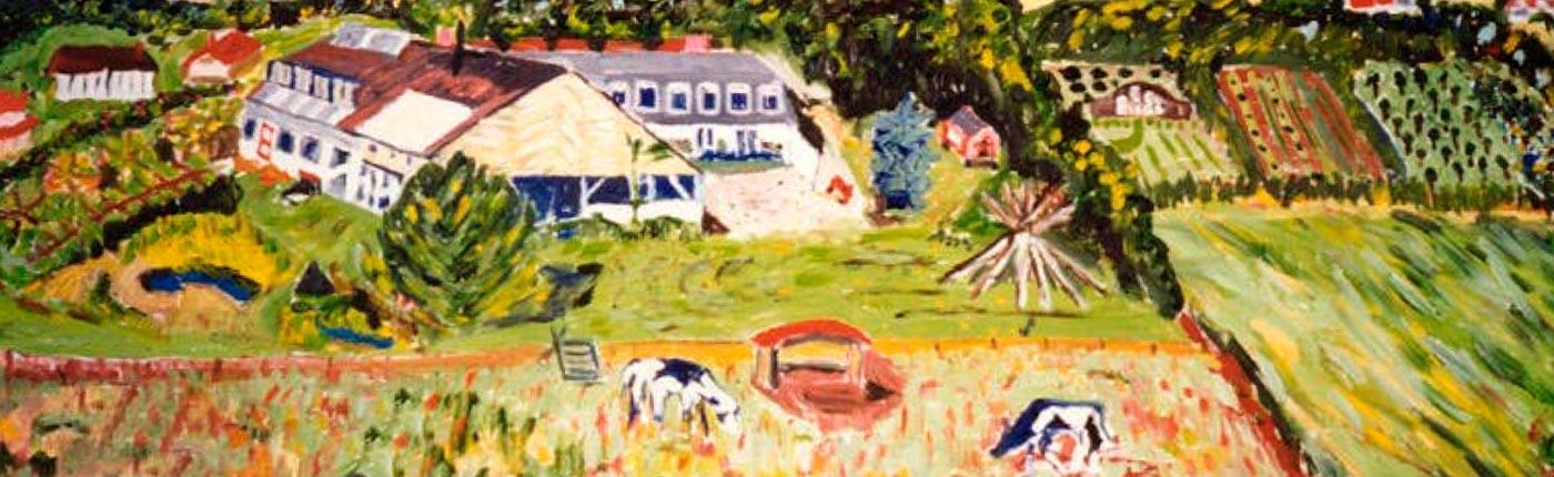 Oil Painting of Fjordvang by Hildur Jackson